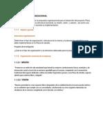 Estudio Organizacional -plan y diseño de un modelo de calidad
