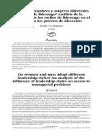 Estilos de liderazgo y Género