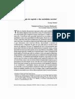 SIMMEL, G. a Sociologia Do Segredo e as Sociedades Secretas