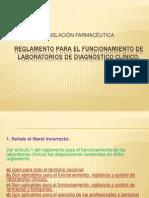 Reglamento para el funcionamiento de Laboratorio de diagnóstico clínico