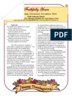 November 2014 Newsletter for Print