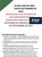 Resolución 1043 de 2006 Vigente Hasta Septiembre De