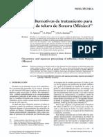 Recursos y alternativas de tratamiento para los minerales de teluro de Sonora (México)^*