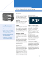 3Com SuperStack 4 Switch 5500 - Data Sheet