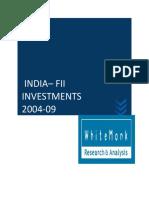 FII Investement Trend -2004-09 ( India )