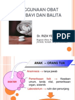 Penggunaan Obat Pada Bayi Dan Anak