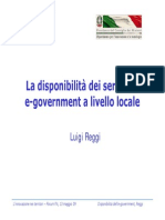 Presentazione Osservatorio Servizi On Line Reggi