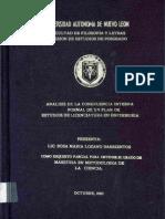 Análisis de La Congruencia Interna Formal de Un Plan