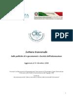 Lettura trasversale sulle politiche di e-government e Società dell'informazione