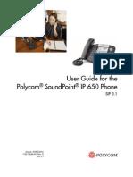 Polycom IP 650 User Guide
