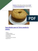Receta de Torta Zanahoria Casera