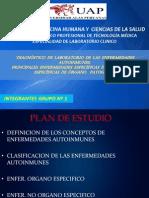 DIAGNÓSTICO  DE  LABORATORIO  DE  LAS  ENFERMEDADES AUTOINMUNES