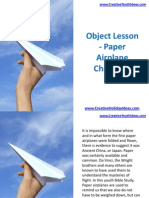 Object Lesson - Paper Airplane Christians