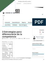 3 Estrategias Para Diferenciarte de La Competencia