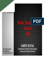 Taller Final Saber Social 25% UPB