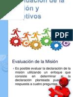 Evaluación de La Misión y Objetivos