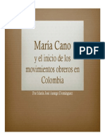 Unidad 6 María Cano - Exposición María José Arango - Historia II - Fac. Com. Social UPB