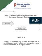 Enfoque Moderno de La Administracion. Sistemas y Contingencias
