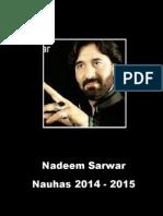 Nadeem Sarwar 2014 - 2015