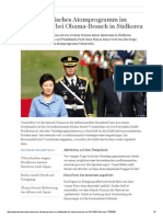 2014-04 Nordkoreanisches Atomprogramm und Obamas Besuch Suedkoreas