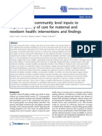 Evidence From Community Level Inputs to Improve the NewBorn Health
