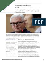 2014-10 Steinmeier kritisiert Nordkoreas Atomprogramm