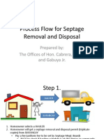 Process Flow for Septage Removal and Disposal