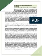 Addressing the Major Gaps in the Public Finance Bill, 2012