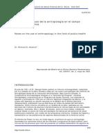 Notas sobre el uso de la antropología en el campo de la salud pública - Dr. Richard N. Adams