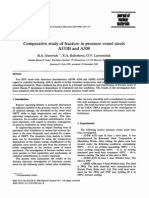 Comparative Study of Fracture in Pressure Vessel Steels A533B and a 508
