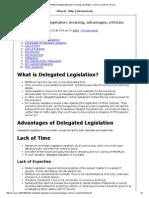 Delegated Legislation_ Meaning, Advantages, Criticism Explained - Mrunal