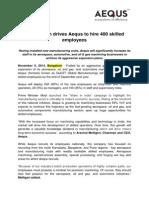 Aequs Press Release on Recruitment Drive (1)