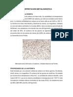 CLASE Nº3.- Interpretación Metalográfica