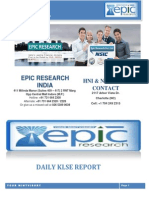 EPIC RESEARCH MALAYSIA - Daily KLSE Malaysia Report of 5th November 2014