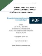 Ensayo de aspectos éticos y legales de la información digital