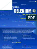 Test Automation Using Selenium-2 Days