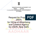 Rfp Hiring of Advertising and Creative Agency 01072014