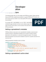 PHPExcel Developer Documentation