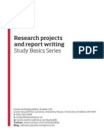 Research Projects and Report Writing - BINDER