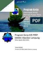 Proker KIR PRRP SMAN 3 Bandar Lampung 2014-2015 - Zainal Abidin