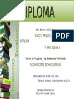 Diploma Leitores Diogo