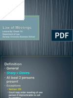 9.Law of Meetings
