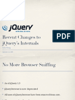 Recent Changes to jQuery's Internals