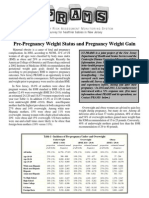 Pre-Pregnancy Weight Status and Pregnancy Weight Gain