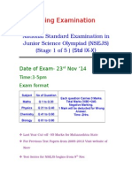 Std IX-X  IJSO Stage 1 (NSEJS)  Exam Pattern