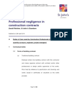 Professional Negligence in Construction Contracts