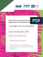 Cuarta Circular Congreso de Estudios Poscoloniales