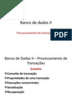 Banco de Dados II Atualizacao