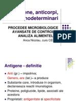 Antigene, anticorpi, imunodeterminari