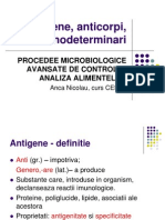 Antigene, anticorpi, imunodeterminari